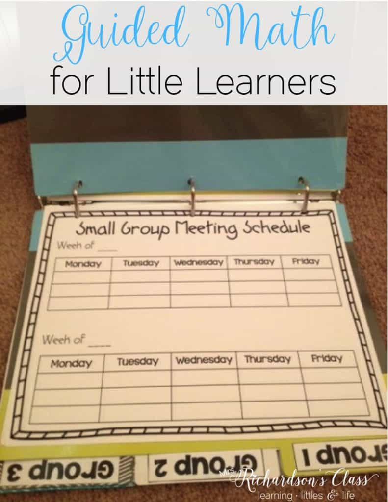 Guided Math doesn't have to be tricky! This 7 week implementation guide, binder, and activities to get you started is just what you need to help get your little learns started with guided math and math workshop! Love the visuals created to help students remember things, too!