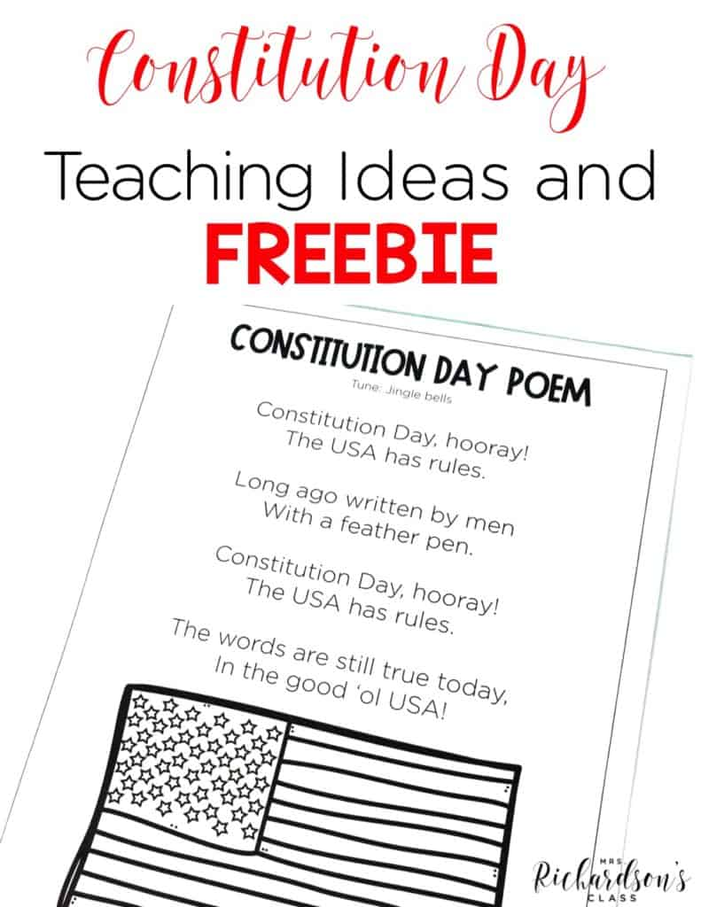 Constitution Day is September 17th every year. Teaching about this important time in American history shouldn't be missed! Grab these teaching ideas, the freebie, and you will be set for Constitution Day!