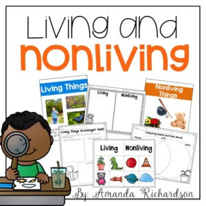 Living and nonliving activities that are great for kindergarten and first grade students as they explore the characteristics of living and nonliving things.