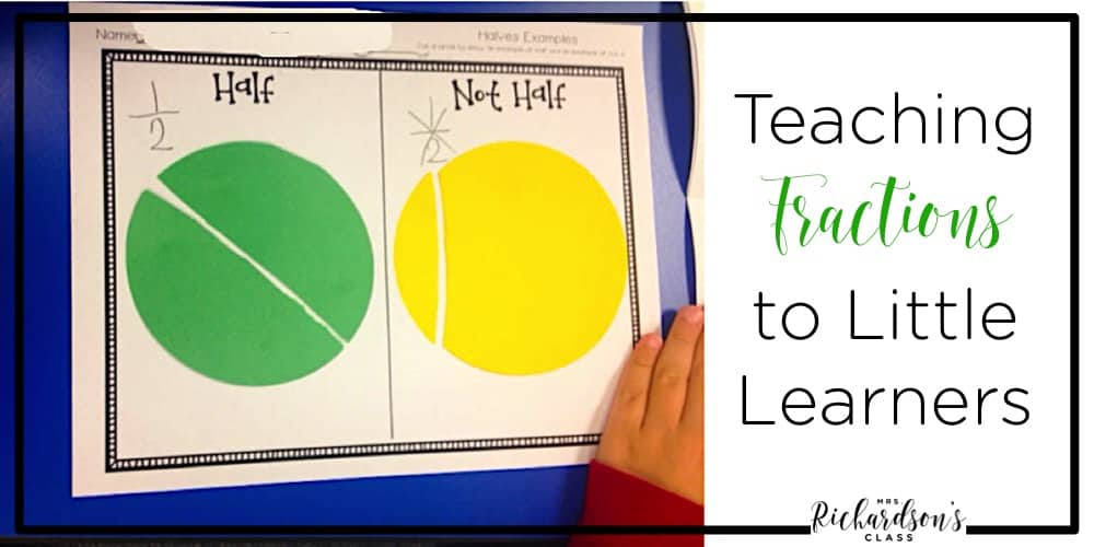 Fraction activities for kindergarten can be tough to find, but this blog post shares simple, practical, concrete ways for students to break down fractions before moving to the abstract practice.