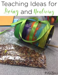 Teach living and nonliving things with your kindergarten, first grade, and second grade students with these fun ideas! Activities for experiments, anchor charts, and interactive notebooks. My students loved the craft!  #firstgrade #secondgrade