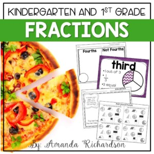 Fraction activities that are sure to engage your students and provide hands on experiences with building fractions in kindergarten and 1st grade!