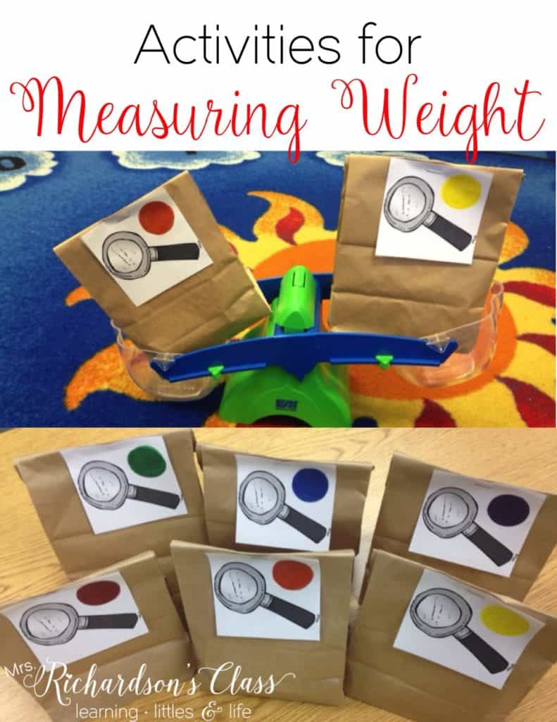 These measuring weight activities are sure to keep your kindergarten and first graders engaged! My students were GLUED to this lesson! It's a must-do for sure! #MathLessons #MathActivities