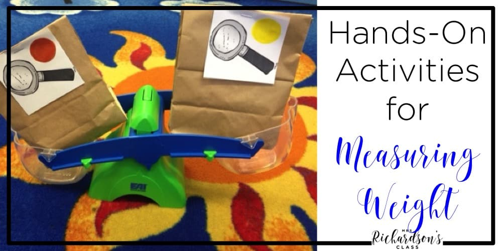 These activities for measuring weight are perfect for first grade and kindergarten! Weight is a fun topic to explore!