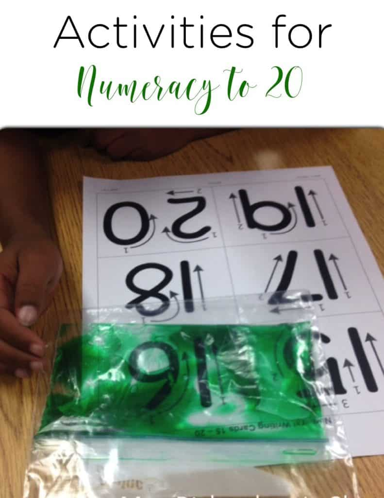 Activities for Numeracy to 20 that are hands on, easy for students to do, and engaging.