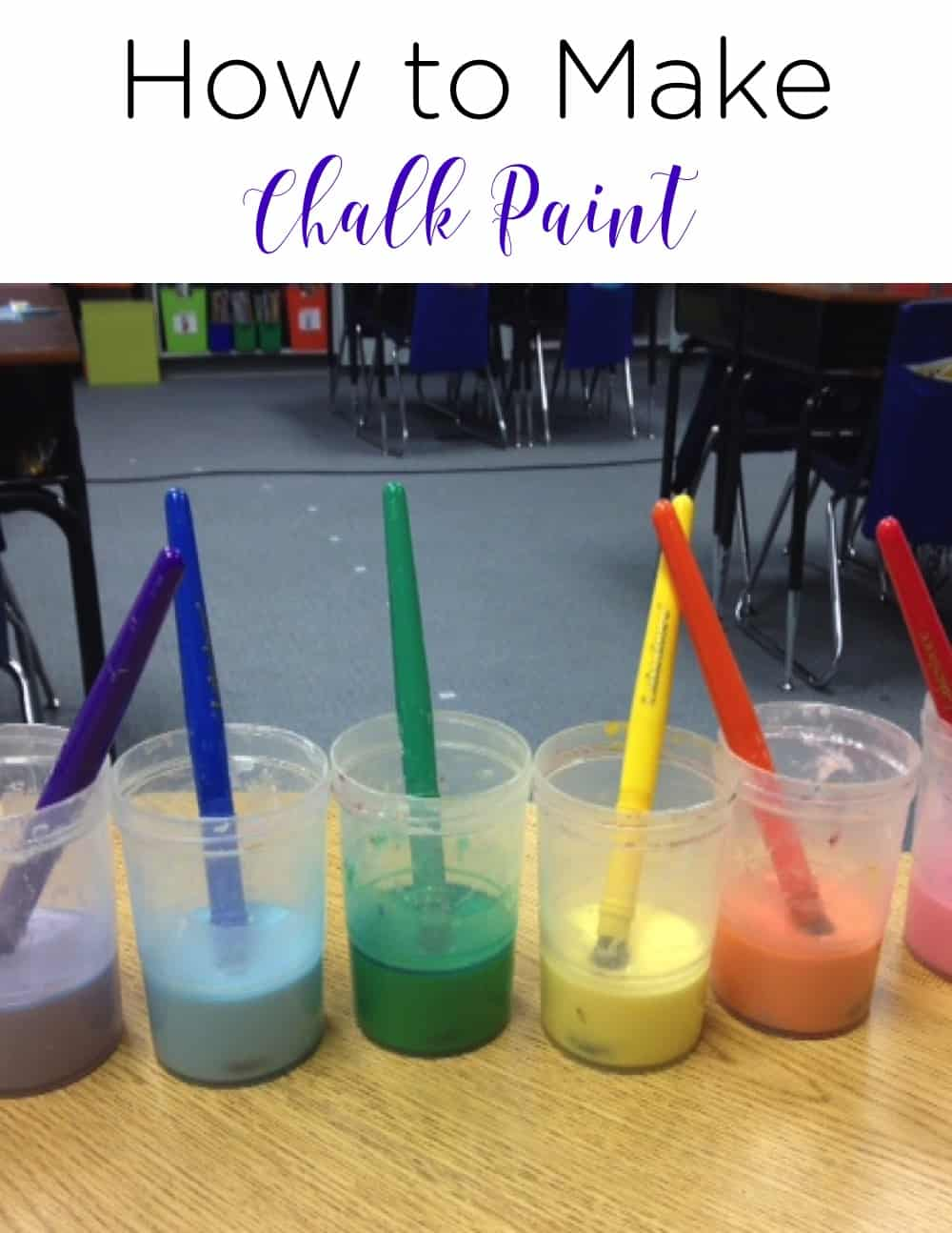 Are you looking for a fun, simple, and engaging way to take learning outdoors? Check out this recipe for chalk paint! What a perfect summer craft! It's so easy to make and the possibilities are endless for your little kindergarten and first grade students!  #TeacherTips #ClassroomIdeas