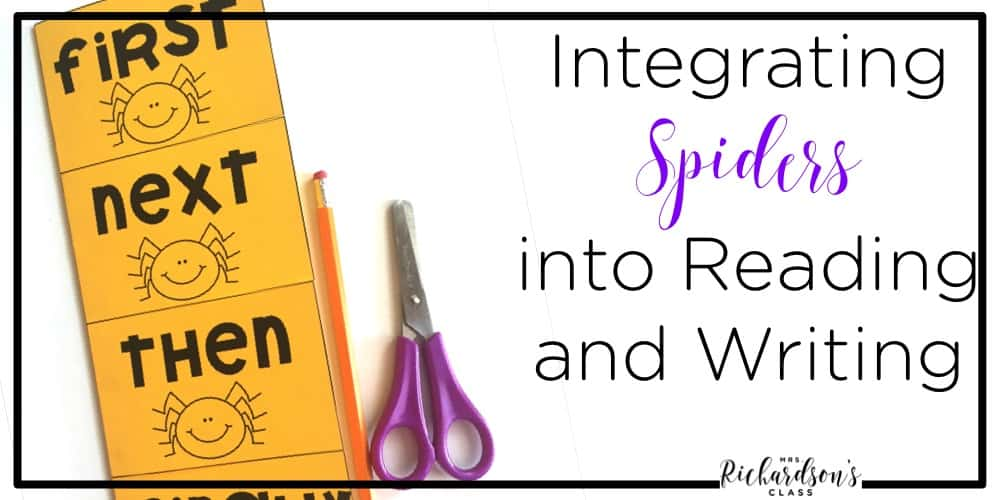 Spider activities are perfect for teaching non-fiction text features along with several components of fiction text, too! Integrate spiders into reading and writing easily with these ideas and this unit!
