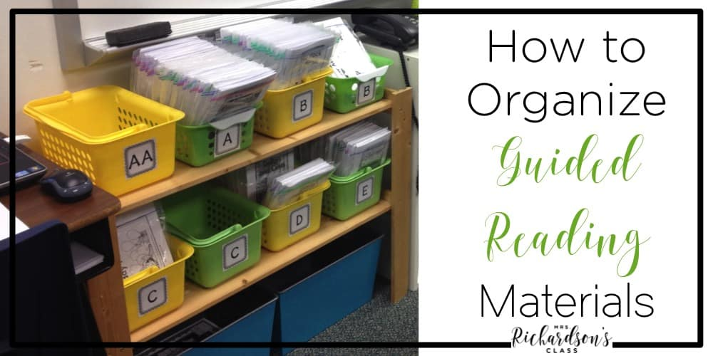 Organizing your guided reading material can be overwhelming. Come see how this teacher keeps it all together and organized in her classroom!