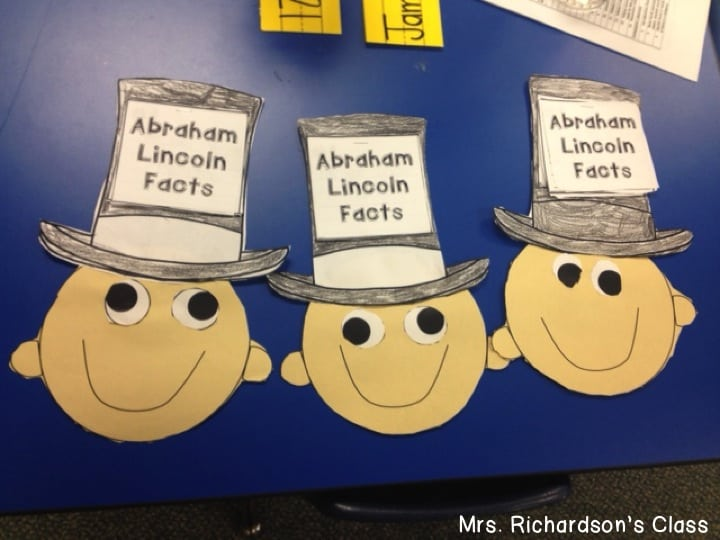 This Abraham Lincoln writing craft was a wonderful way for students to practice writing conventions while writing about their learning.