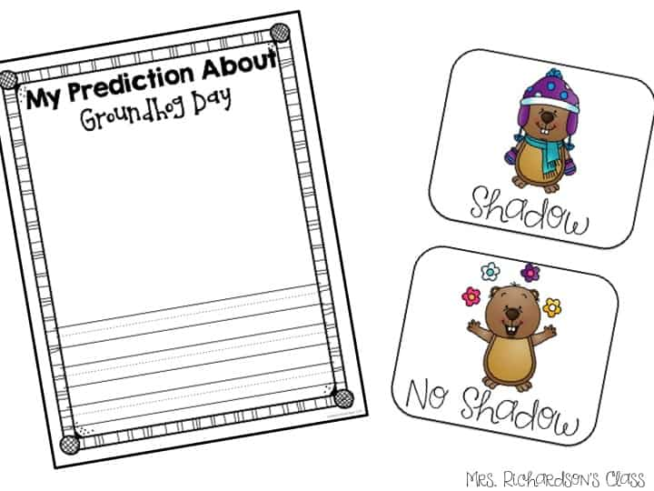 Groundhog Day prediction writing is always a blast! Did you guess correctly? What does that mean? Groundhog day activity for kindergarten and first grade.