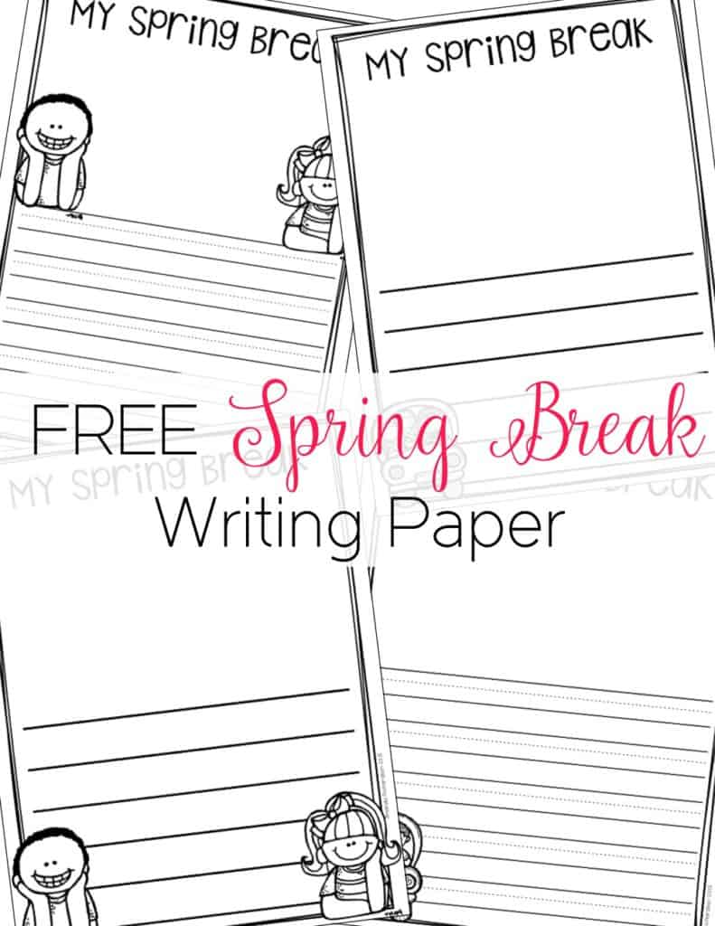Spring break is the perfect opportunity for students to write a narrative about their time away from school! Grab this freebie and you will be set for some spring break writing!