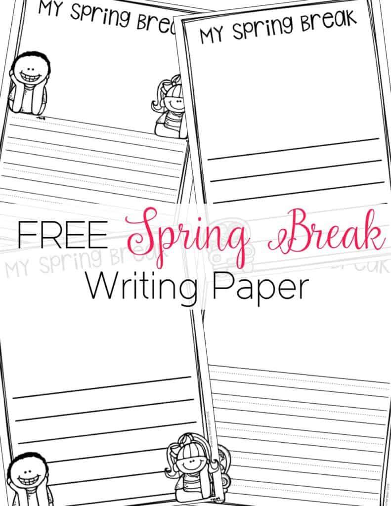 Spring Break Writing FREEBIE
