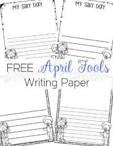 April fools writing is a fun opportunity for students to express their silly personalities and be creative! They also could write about cause and effect using the day as a prompt!