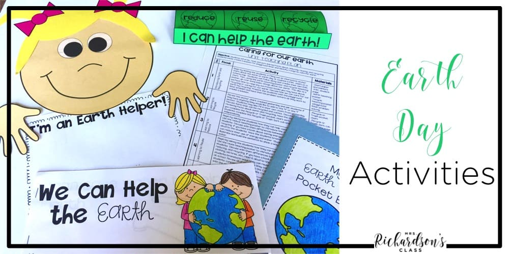These earth day activities are engaging, interactive, and perfect for your first grade and kindergarten students! They include a unit plan, help integrate reading and writing, and are sure to be fun for your learners! Everything is laid out!