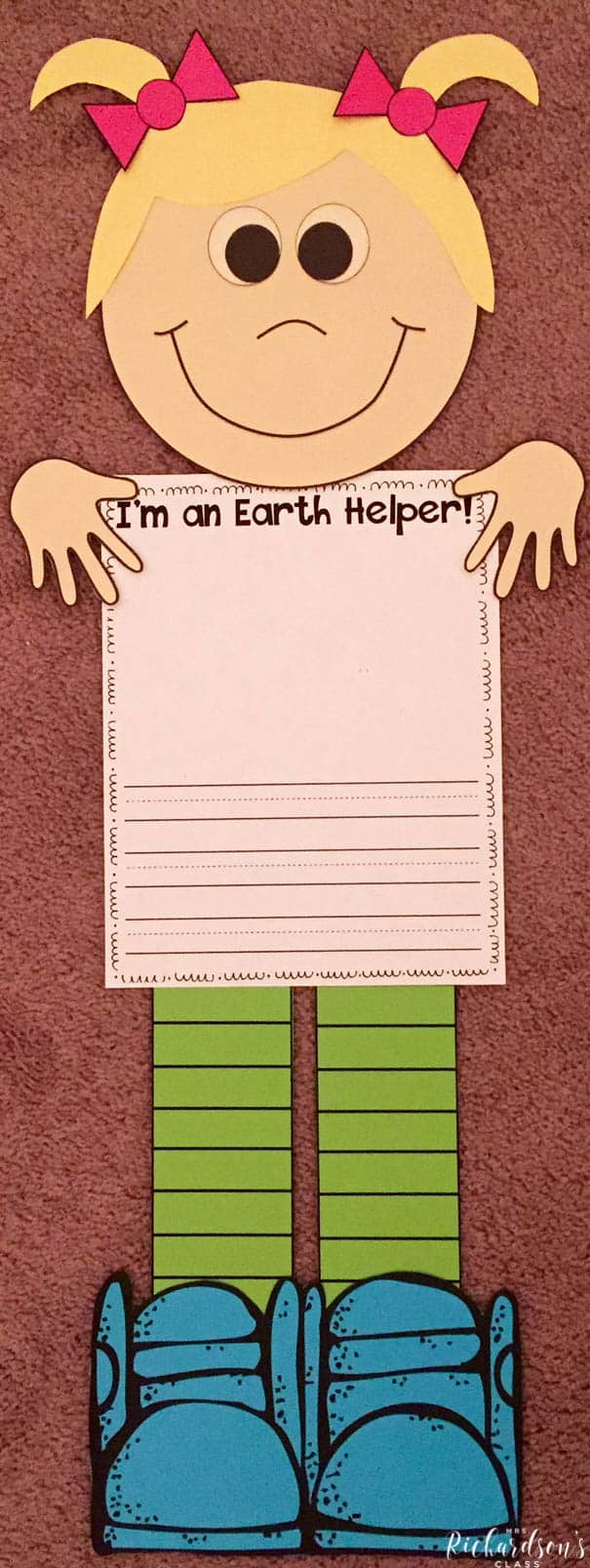 Get your students writing about earth day with their plan to be an Earth Helper! My first grade and kindergarten students loved this earth day activity!