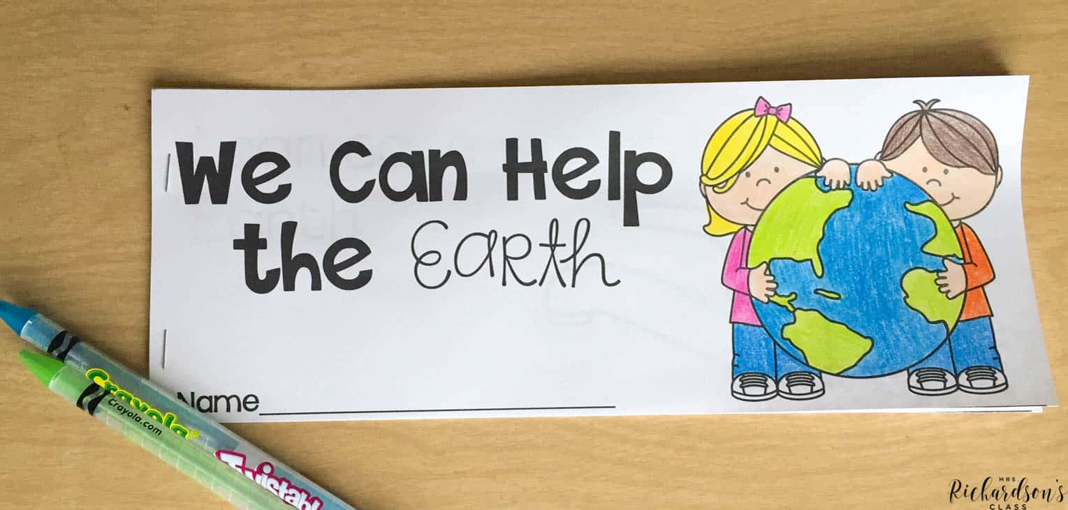 This book created just for early readers will help them learn all about earth day! This is the perfect earth day activity for kindergarten and even first grade students.
