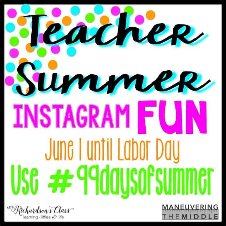 Teacher Summer Instagram FUN
