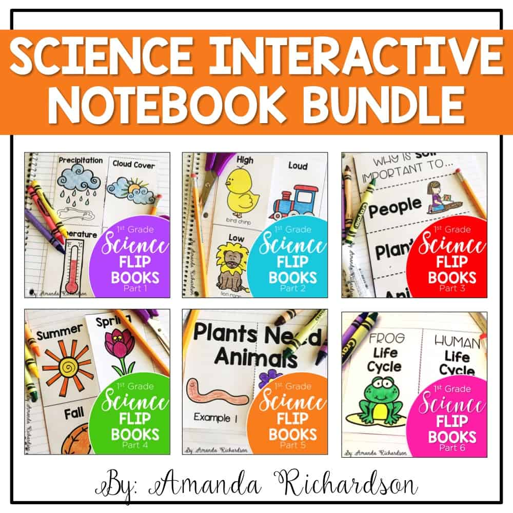 Interactive science notebook for first grade--finally something that will last me all year!