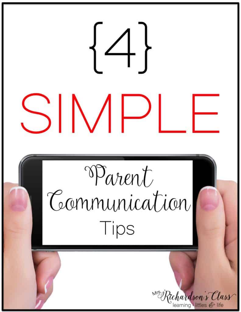 These 4 simple parent communication tips are great! I especially love how simple the first one is with keeping my parents up to date on things!