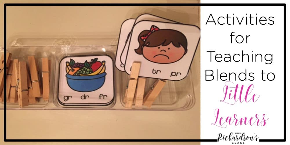 These blend activities are the perfect way to practice blends phonics skills. The clip cards are great for fine motor practice, too.