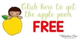 FREE Apple Poem