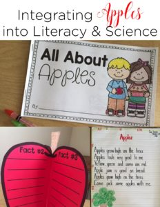 Integrating Apples into science, reading, and writing is not only simple, but engaging! It's the perfect way to hook your little learners!