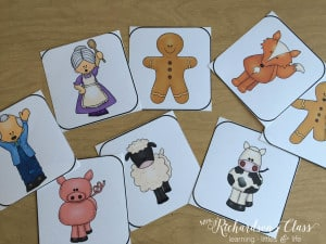 Gingerbread Retell Cards