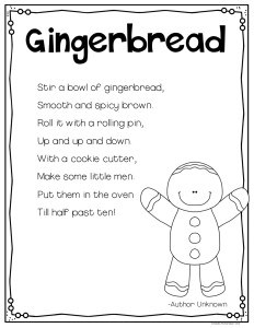 Gingerbread Poem