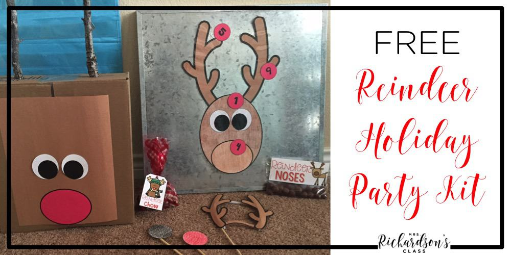 Be set for your classroom holiday party with this FREE reindeer party kit! Games, snack ideas, and more! It's sure to be a blast!