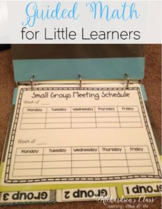 Guided Math doesn't have to be tricky! This 7 week implementation guide, binder, an activities to get you started is just what you need to help get your little learns started with guided math and math workshop! Love the visuals created to help students remember things, too! #MathLessons #TeacherTips