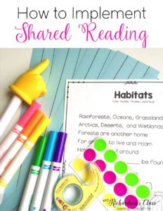 Shared reading instruction can seem tricky, but it doesn't have to be! This how-to guide makes it super simple and manageable for kindergarten and first grade! I love what they do after a week of instruction and practicing strategies, too! #balancedliteracy #sharedreading