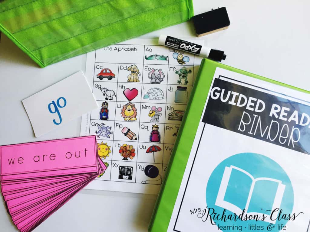 These are the teaching materials I love to have handy for all guided reading lessons.
