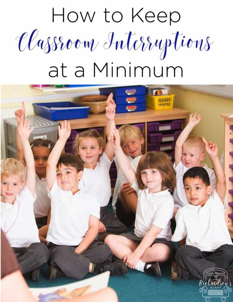 How to Keep Classroom Interruptions at a Minimum