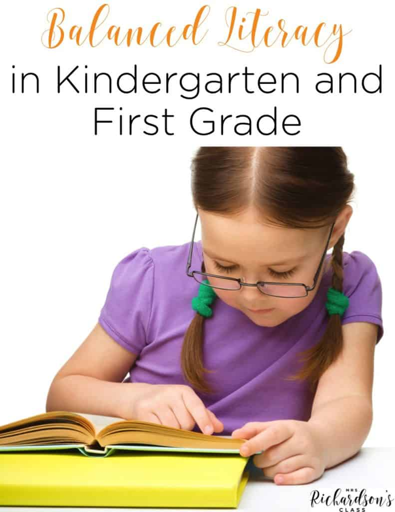 Balanced literacy in kindergarten and first grade is a crucial part of the day. See how this teacher explains each element and teaches it in her classroom.