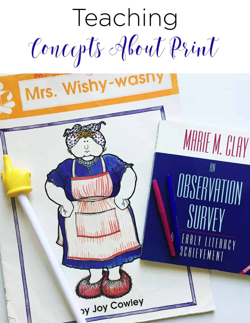 Teaching concepts about print is an important early literacy skill to be mastered. The skills are necessary as students learn how our language works and looks in print. See how this teacher weaves it into her day and assesses her little learners. #literacy #preschool #kindergarten
