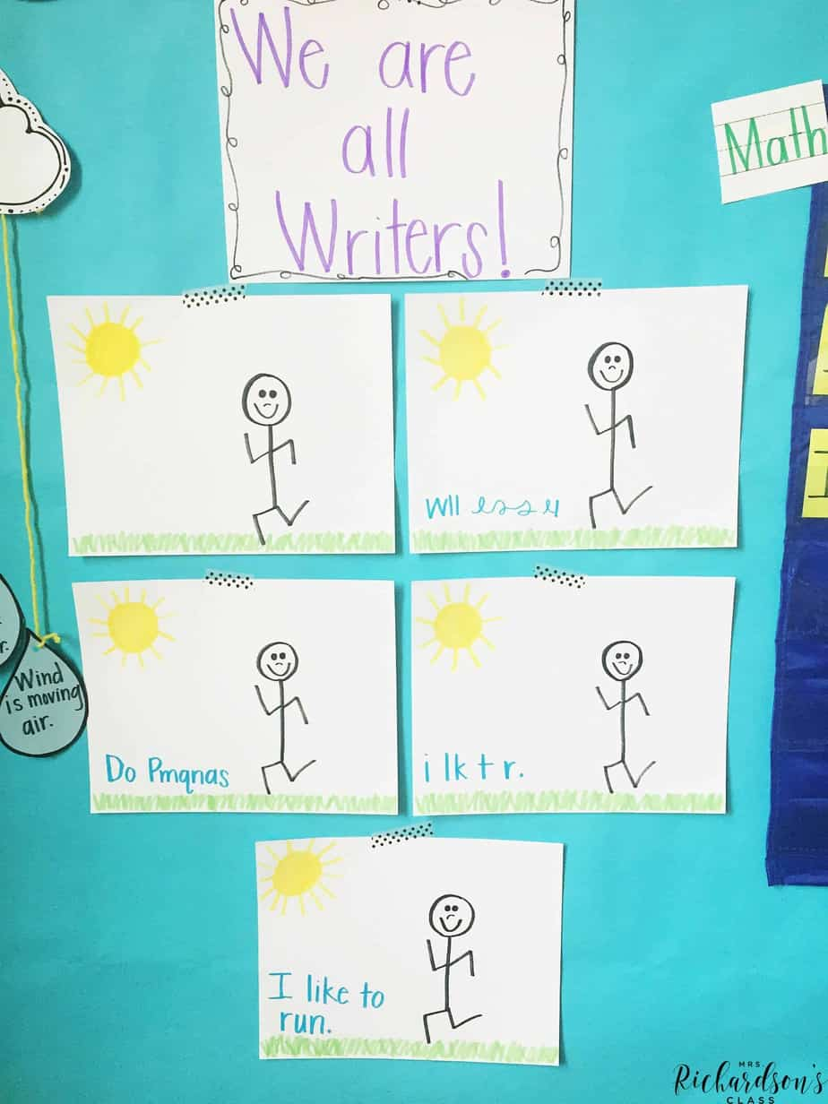 This writing anchor chart is a great visual that shows how we celebrate ALL writing in every stage!