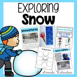 These snow activities are hands-on, engaging, interactive, and a total blast for kindergarten and first graders as they explore seasons and winter! #scienceexperiment #kindergarten #firstgrade #winterscience #scienceforkids