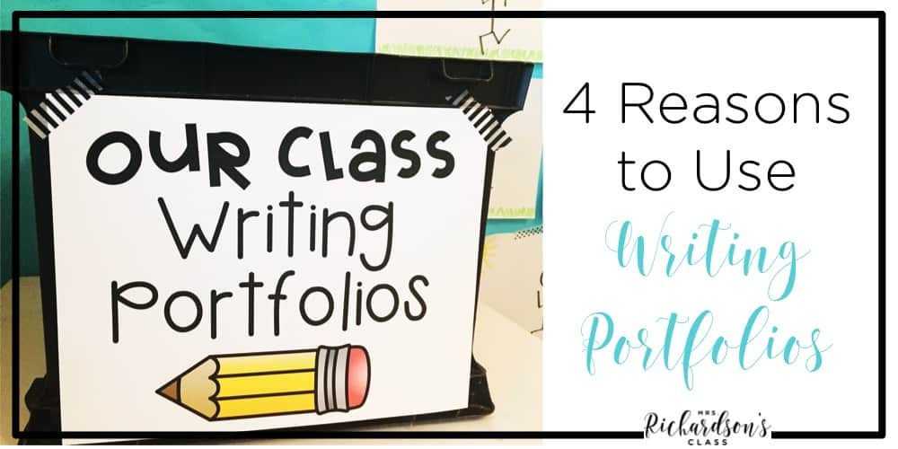 Does the thought of keeping a writing portfolio overwhelm you? Don't let them! Keeping writing portfolios in kindergarten and first grade are a great tool for both teachers and students! #WritersWorkshop #classroomorganization