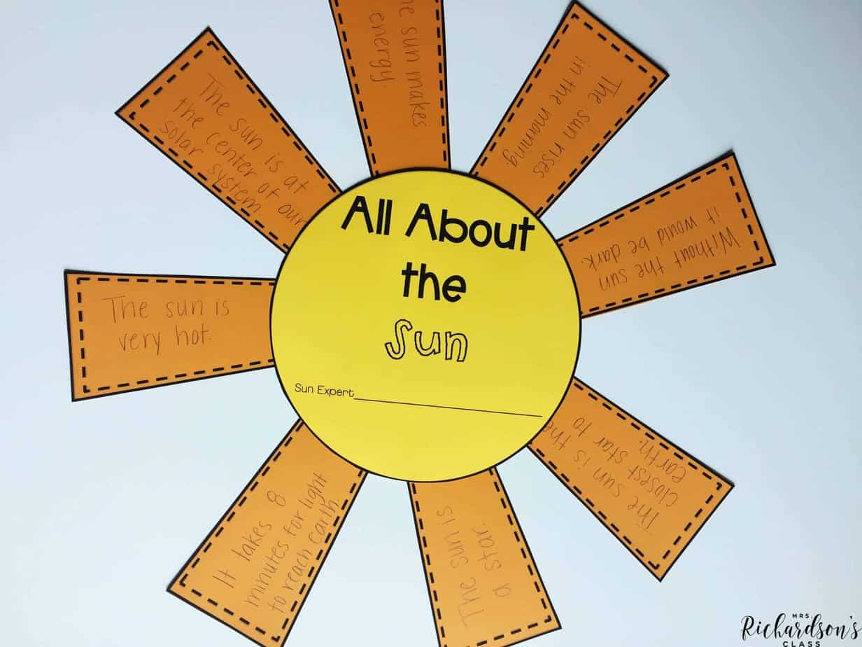 Are you ready to explore the sun? Use this science unit and have your students write about all that they learn!