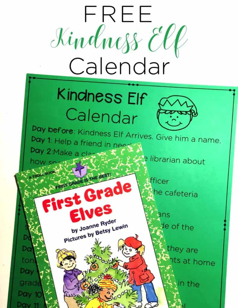 Are you looking to spread a bit more kindness around your school? You should do a kindness elf! Grab this FREE kindness elf calendar and get busy spreading holiday cheer!