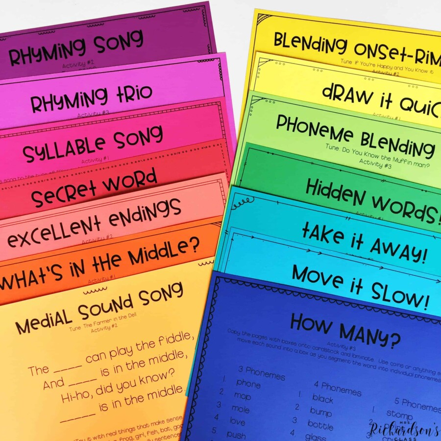 These phonemic awareness activities are great for interventions and easily keep your students engaged!