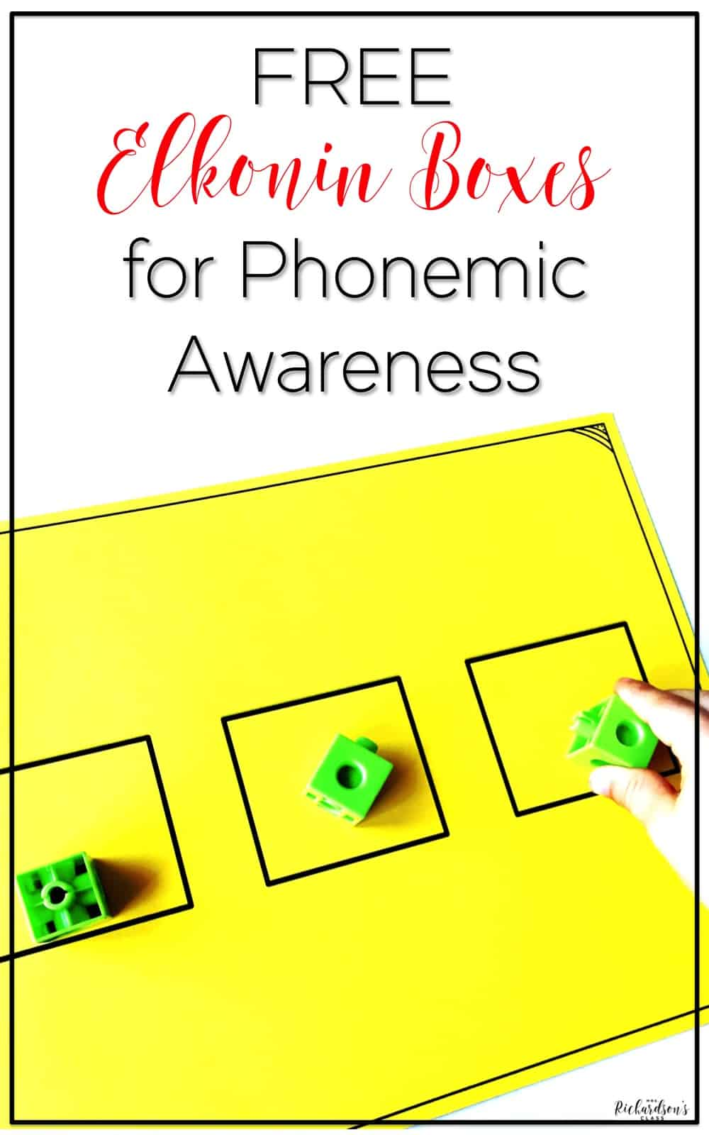 Using elkonin boxes to practice phonemic awareness skills is a great tool for students!