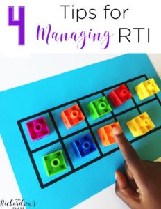 Managing RTI can be a handful sometimes, but it doesn't have to be. These 4 simple tips are great to help you organize RTI!