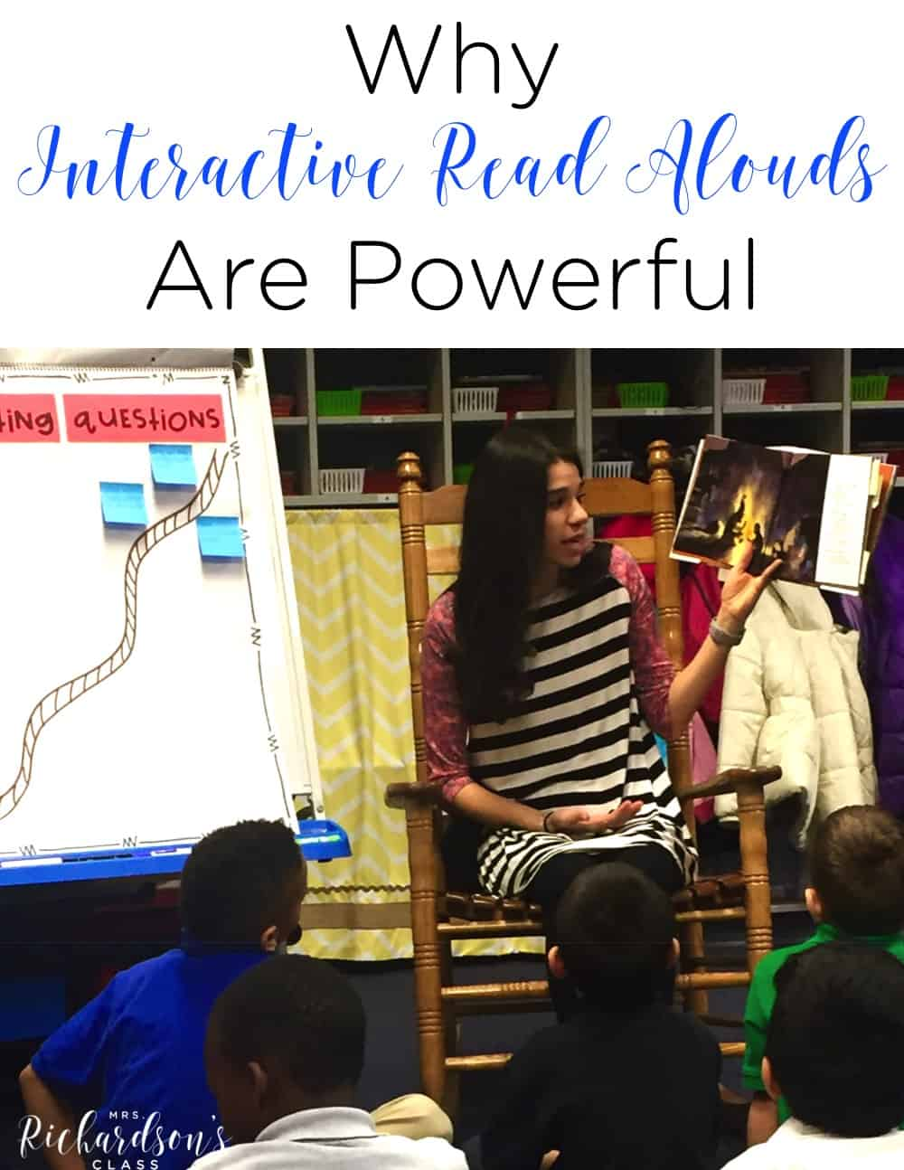 Interactive read alouds are one of the most powerful parts of our day. Students are able to observe what good readers do and how they think!