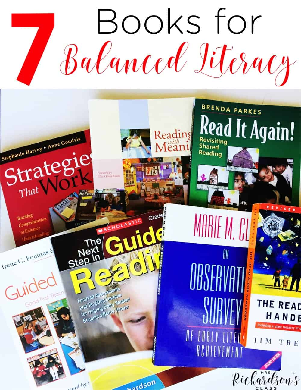 If you are looking to dig your feet into balanced literacy, these books are for you! They are easy reads, filled with great info, and helped me so much! These books for balanced literacy are must-haves!