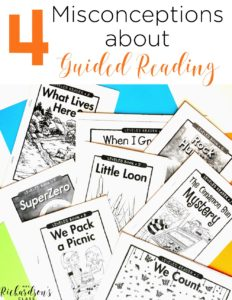 Figuring out guided reading can be difficult. There are so many pieces of a guided reading lesson. Here are 4 guided reading misconceptions that this teacher clears up for you!