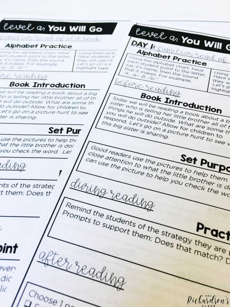 Guided Reading scripted plans are here to help you get a jump start on your guided reading!