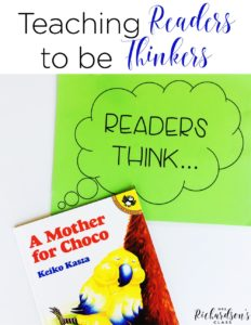 Teaching readers how to think is an important element in teaching reading. These tips are great for any elementary teacher as she dives into this practice.