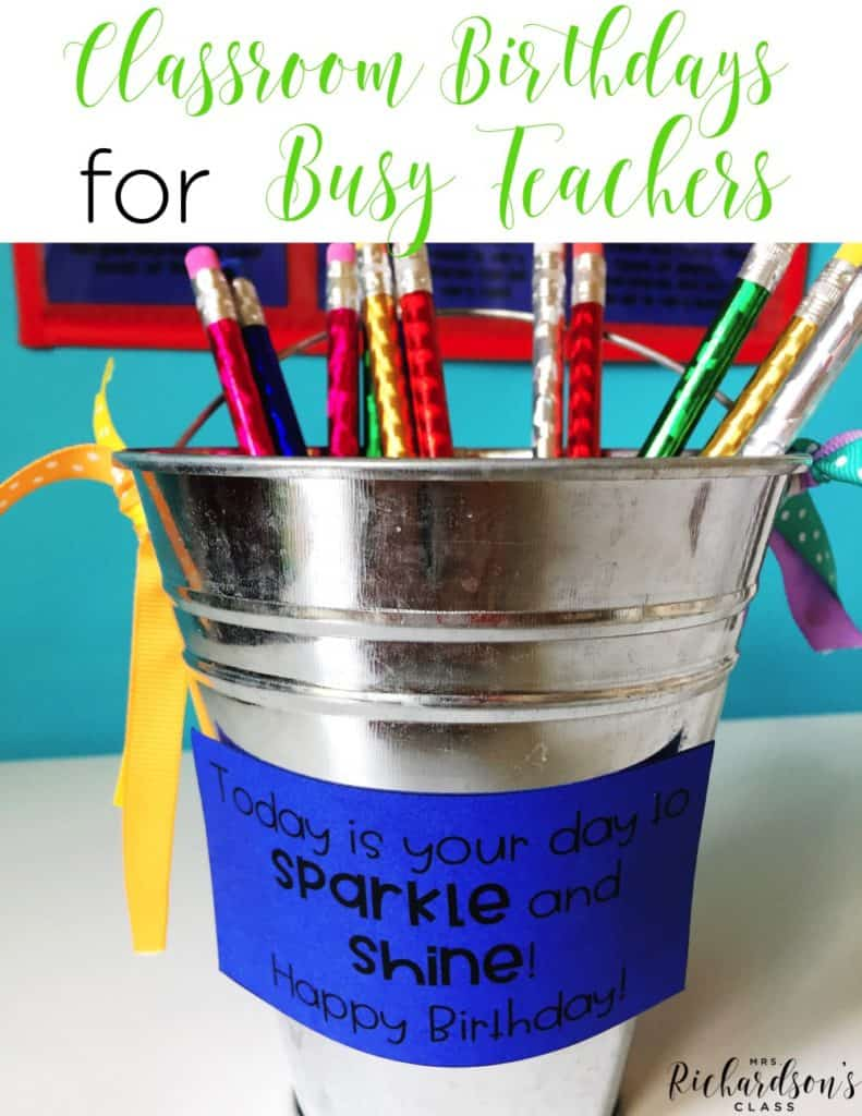Classroom Birthdays for Busy Teachers