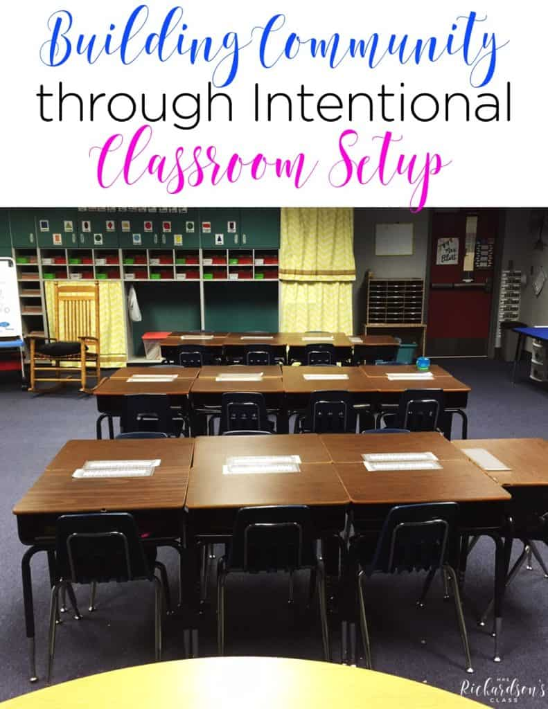 When setting up your classroom, there are many things to keep in mind. Creating an environment that fosters a classroom community is at the top of the list, though! Classroom setup helps build this greatly!